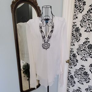 Carole Little sheer tunic